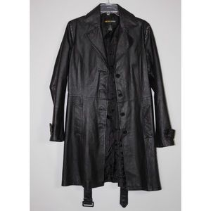 MetroStyle 100% Leather Coat Jacket Women's Sz 8